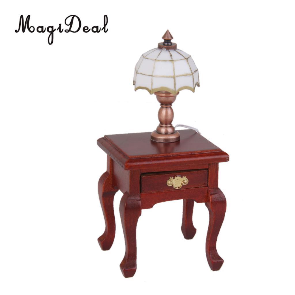 1:12 Dollhouse Miniature Table Lamp Accessories Reading Light Furniture Decor