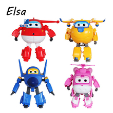 8 styles Super Wings Mini Planes Deformation Airplane Robot Action Figures Changeable Toys action toy figures Super Wings WJ036