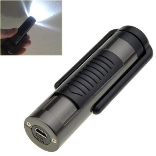 ถูก 1ชิ้นมินิUSB LEDไฟฉายแบบชาร์จFlameless W Indproofซิการ์บุหรี่ไฟฟ้าเบา