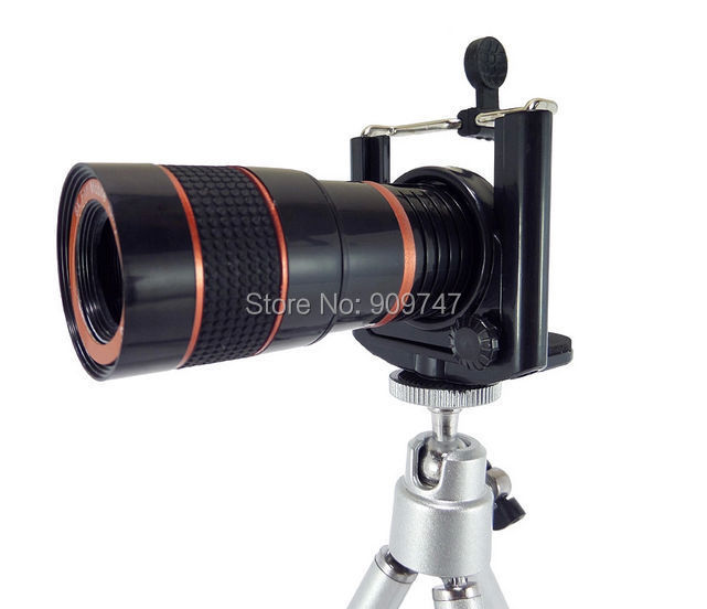 8x Zoom Optical Lens Mobile Phone Telescope Camera For Phone New Universal Clip Eightfold Magnifier with Holder(China (Mainland))