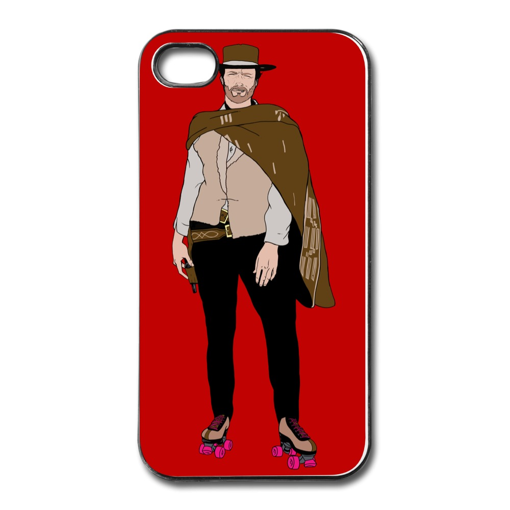 Personalized For Iphone 4 Cover The Man With No Name But Some Skates Creat Your Own Cases For Iphone 4s With Art Logo(China (Mainland))
