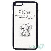 Fit for iPhone 4 4s 5 5s 5c se 6 6s 7 plus ipod touch 4/5/6 back skins cellphone case cover Family Stitch & Lilo Ohana