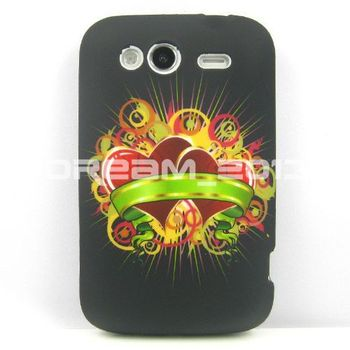 New Classic Black Shining Double Heart TPU Gel Silicone Case for Htcg13