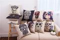 Skull priented Cotton Linen Sofa Cushion 45x45cm 17 7x17 7 Sofa Throw pillow Home Decor Home