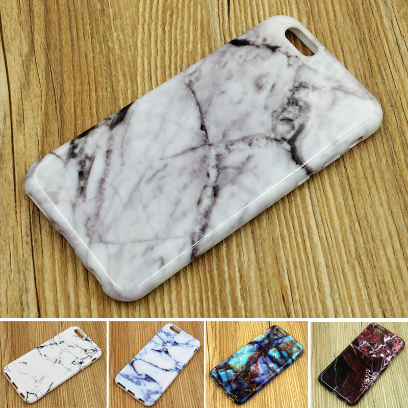 Fashion Phone Case for Apple iPhone 6 6S Marble Granite Stone Lines image Painted Cover TPU Soft Cover Case Protection(China (Mainland))