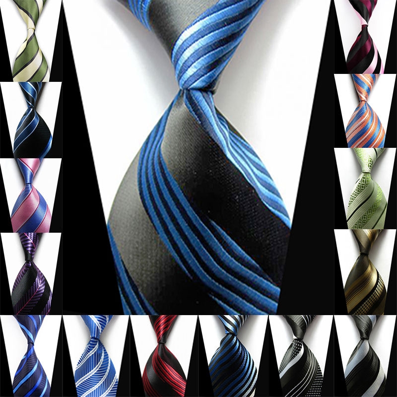 Silk Stripe Mens Ties 2016 New Man's Fashion Accessories Dot Classic 100% Silk Neck Tie Formal Business Casual Knitted Neckties(China (Mainland))