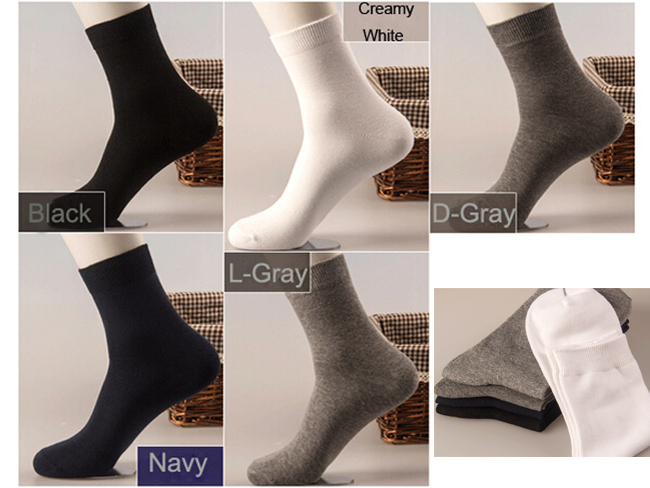 High Quality 100%Cotton Socks Women Men Socks Leisure Solid Color Winter Sports Socks(China (Mainland))