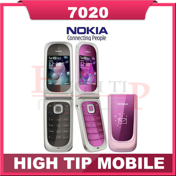 7020 Original Nokia 7020 Unlock Cell Phones Bluetooth FM JAVA Refurbished Free shipping(China (Mainland))