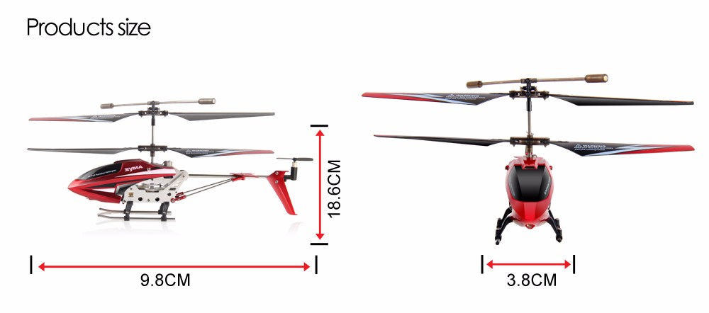 100% Original SYMA S107W 3.5CH 2.4GHz Indoor RC Helicopter Aluminium Alloy Shatterproof Remote Control Aircraft for Children