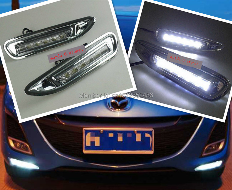 2x LED DRL Driving Daytime Running Day Fog Lamp Light For mazda 6 atenza<br><br>Aliexpress