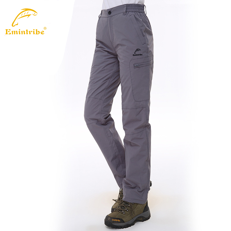 Women outdoor Pants camping & Hiking climbing Trousers waterproof windproof thermal Zip Dry Sportwear Size:S--2XL YM822308 - Outdoor Lifes store