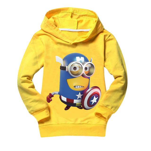Миньон Детской одежды бренда мальчиков одежда из хлопка мальчик толстовки и толстовка ...