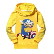 Minion Kids clothes brand boys clothing cotton boy hoodies & sweatshirt girls t shirt casual boy minions clothes girl tops & tee(China (Mainland))