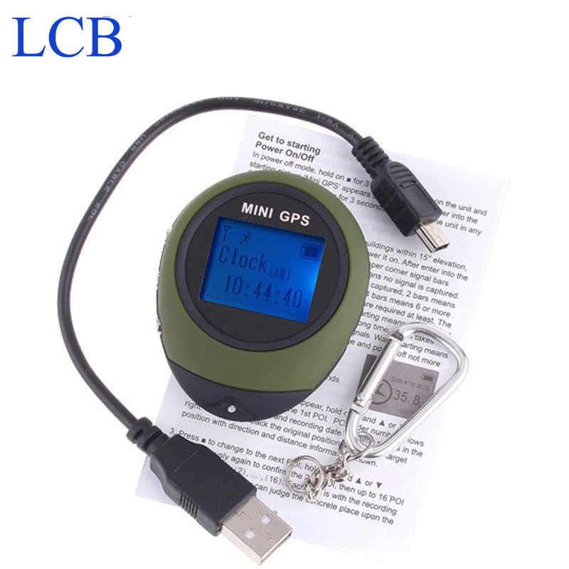 Free shipping Dropshipping 2pcs/lot Handheld Keychain  Mini GPS data logger  USB Rechargeable For Outdoor Sport<br><br>Aliexpress