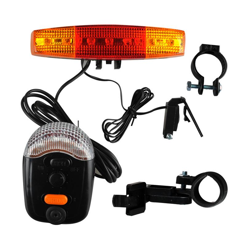 XC - 408 7 Bicycle Light LED Bicycle Bike Accessories Cycling Light Turn Night Brake Light 8 Tunes Horn Turning Break Night Lamp(China (Mainland))