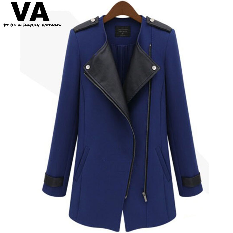 autumn winter jacket women Trench Coat 2015 Design New Plus Size Clothing Warm Thicken Jacket Fashion Big Size clothes Overcoat(China (Mainland))