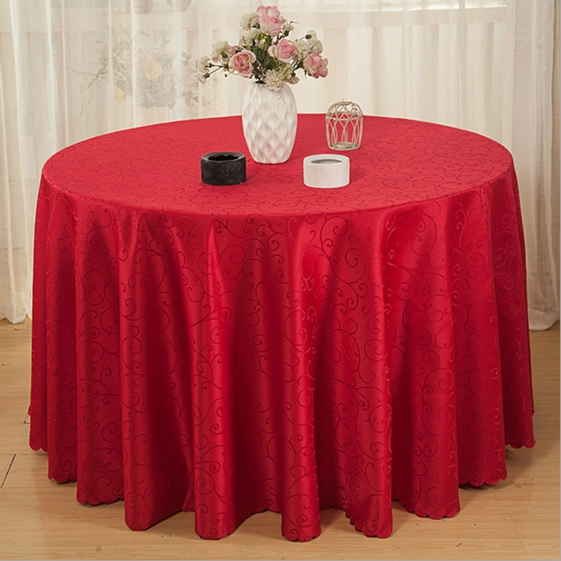 High quality 100%Polyester table cloth Round hotel tablecloth christmas wedding party banquet table cover Home Textiles Q175(China (Mainland))