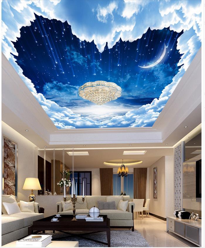 hohe qualit t gro handel nacht himmel wallpaper f r decke aus china nacht himmel wallpaper f r. Black Bedroom Furniture Sets. Home Design Ideas