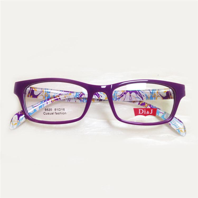 New Acetate Colorful armacao de oculos de grau feminino Women Eye Glasses Frame(China (Mainland))
