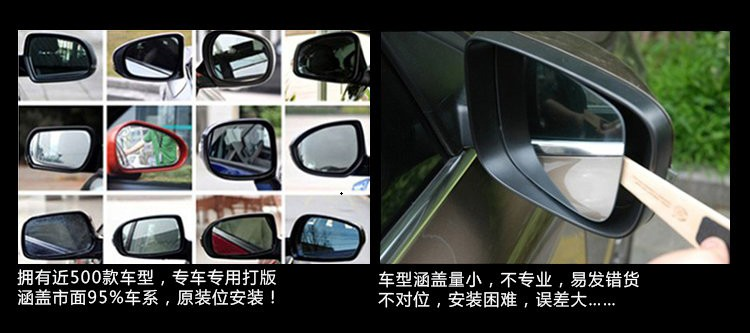 forS3 S2 S5 special modified Jianghuai refine large anti glare rearview mirror reflective mirror reversing blue