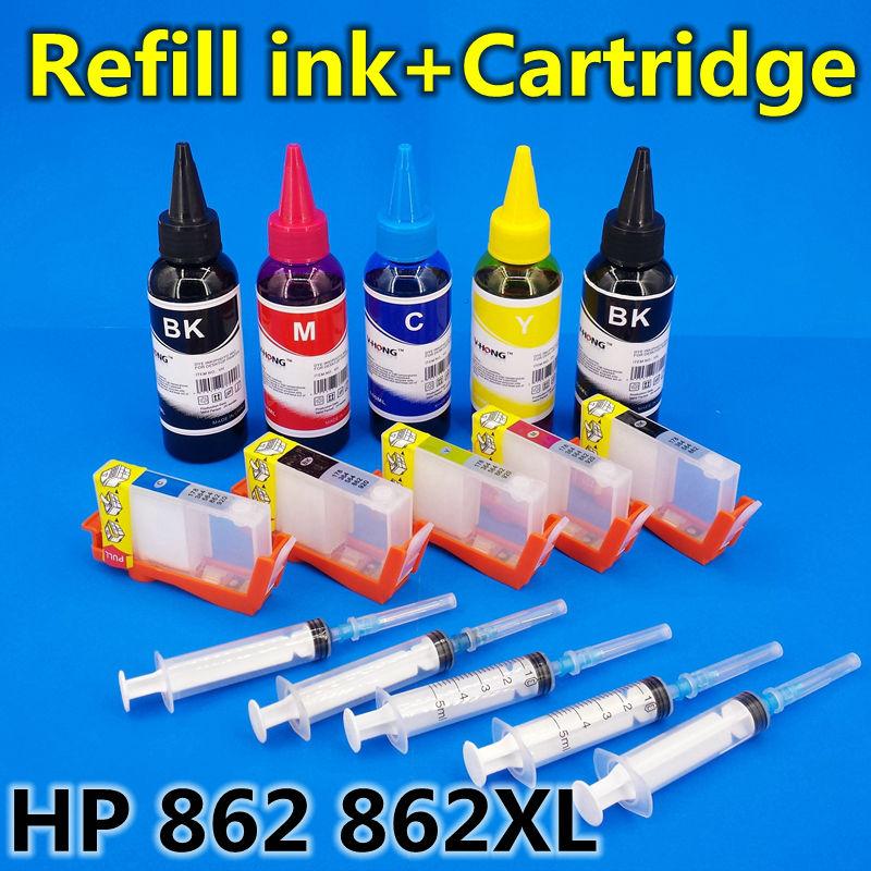 hp862 hp862XL printer ink refill kit+Refill ink cartridgeC5388 D5468 B8558 C309 B209 B210 C6388 D5468 C309a C309g C310a C410d(China (Mainland))