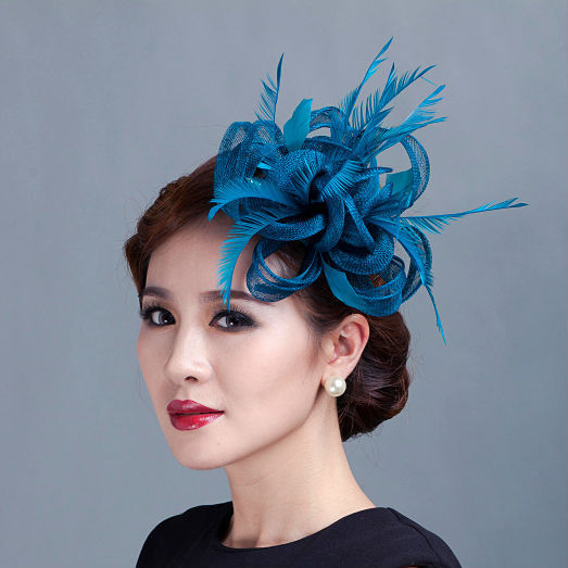 Online Get Cheap Teal Fascinator Aliexpress Com Alibaba Group