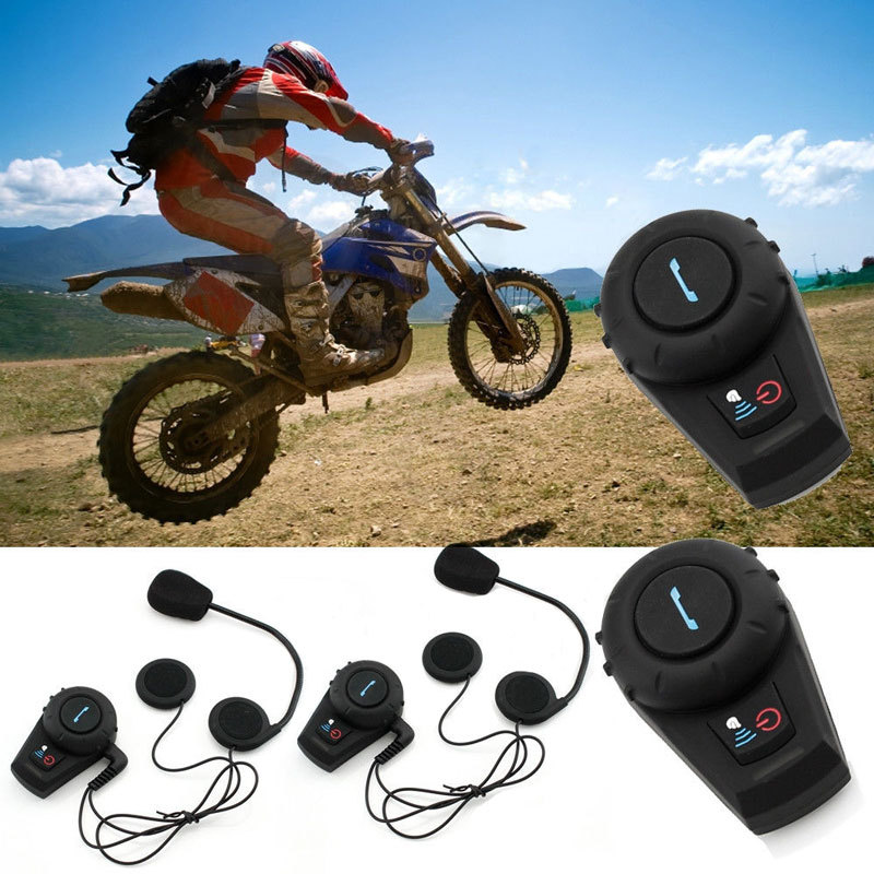 2 x500m bluetooth intercom motorcycle motorbike helmet intercom bluetooth interphone headset. Black Bedroom Furniture Sets. Home Design Ideas