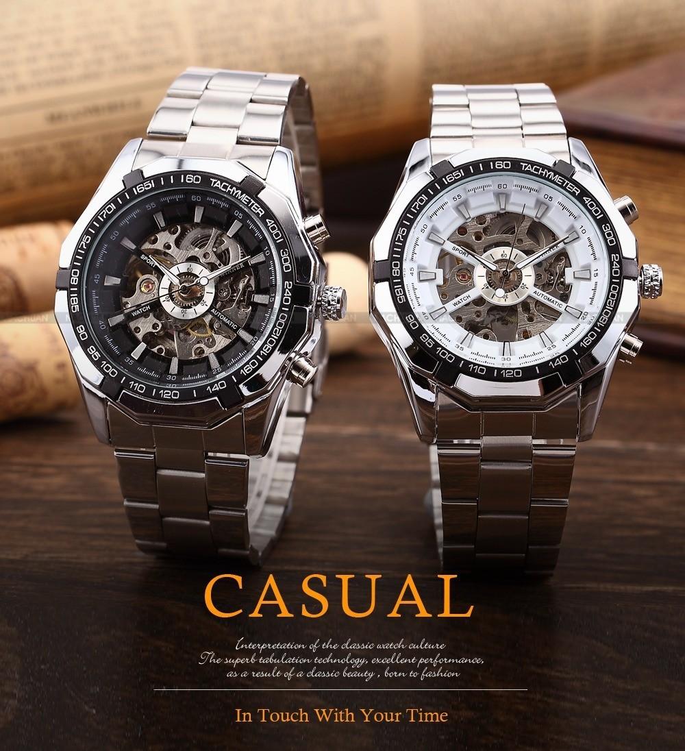 Дизайнер часы winner skeleton luxury мужчинам