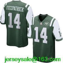 2016 Elite Men New York Jets #14 Ryan Fitzpatrick Green white Stitched logo #96 Muhammad Wilkerson(China (Mainland))
