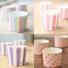 100pcs 4Colors Available Small Size Muffin Cupcake Paper Cups Cupcake Cups Wrappers Liners for Wedding Party DIY Baking(China (Mainland))