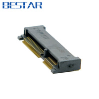 10PCS Mini PCI-E pci express pcie mSATA 52pin 4.0mm Height Receptacle female socket connector adapter Board Mount SMT for SSD