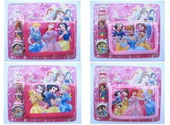 XMAS Gift Purses Wallets 1set XMAS Gift  New Lot Princess Watches wristwatches  with