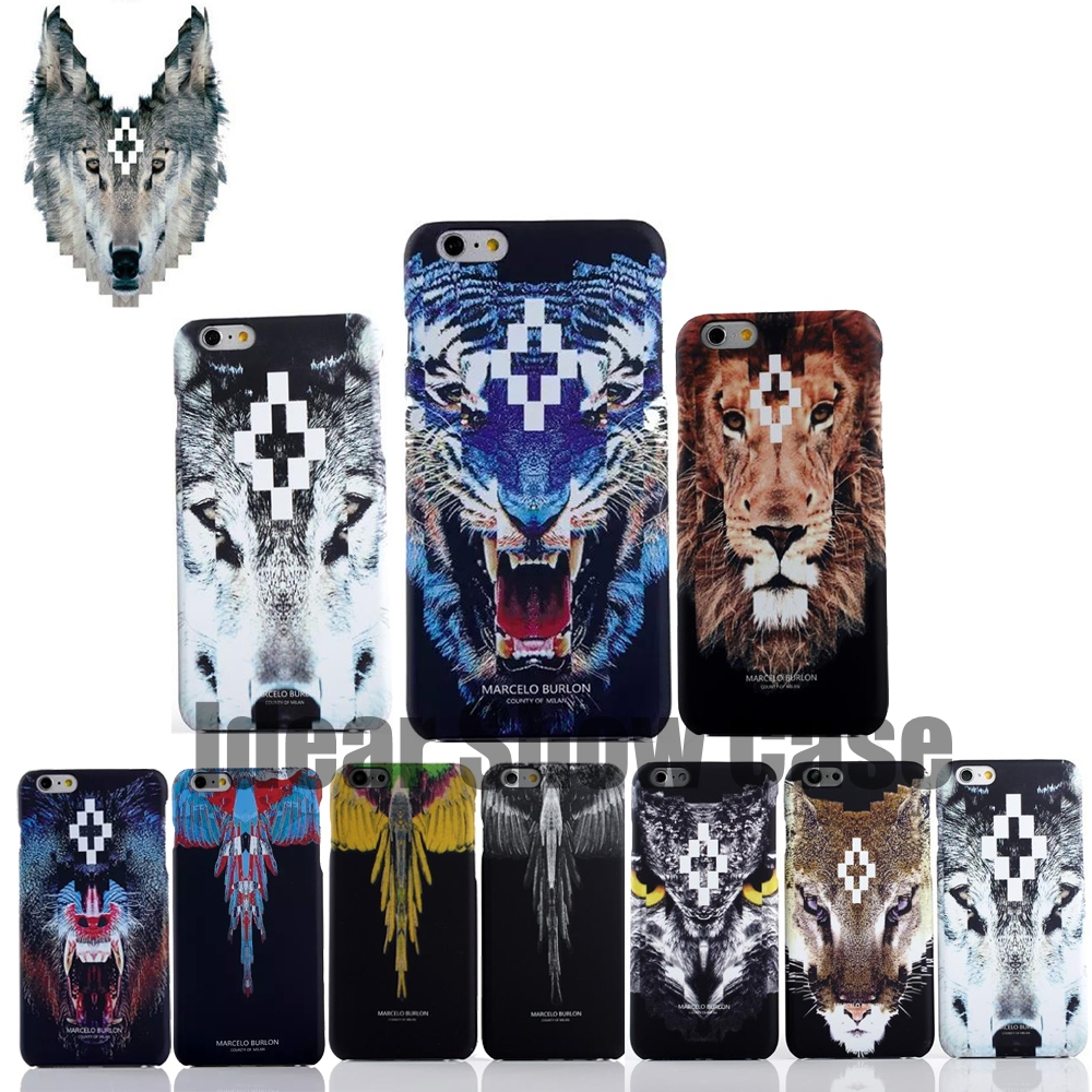 2015 Newest Animal Leopard Tiger Wolf Owl Snake Designs Print Skind Marcelo Burlon Case Cover For Apple Iphone 6 Free Shipping(China (Mainland))