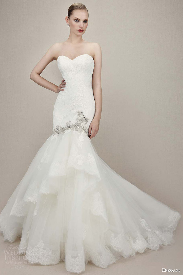 Beading Lace Mermaid Wedding Dresse With Silver Applique