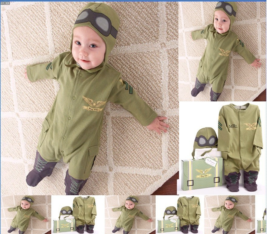 RP0004 Free Shipping Baby Jumpsuit Baby Boy Long-Sleeve Body suit Hooded Romper Infant Newborn Clothes Retail(China (Mainland))