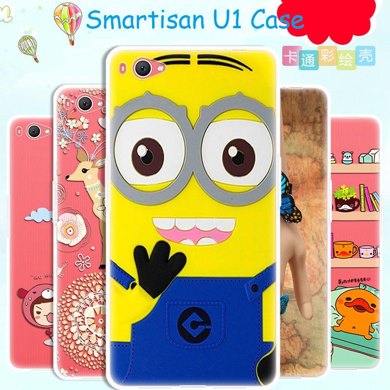 Smartisan U1 Case Cover Ultrathin 5.5 inch Cartoon Cute TPU Silicone Soft Phone Capa Jianguo YQ601 - New Mobile Era Technology Co.,Ltd. store