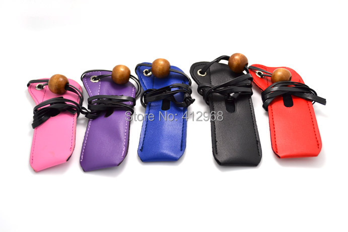 Leather Lanyard Portable Pouch Soft Case Bag E Cigarettes CE4 CE5 Vivi Nova MT3 Atomizer eGo EVOD Vision Spinner 2 3 Battery