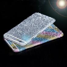 Luxury leopard glitter foil sticker body scrub color film Star flash mobile phone protective film For iphone 4 5 5S/6 6S/6 Plus
