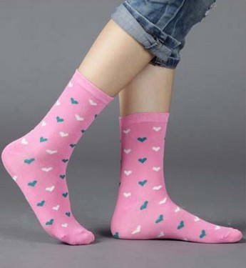 Candy colors 20 pieces=10pairs new design women's socks with high quality Winter Rhombus Dot Solid design media socking(China (Mainland))