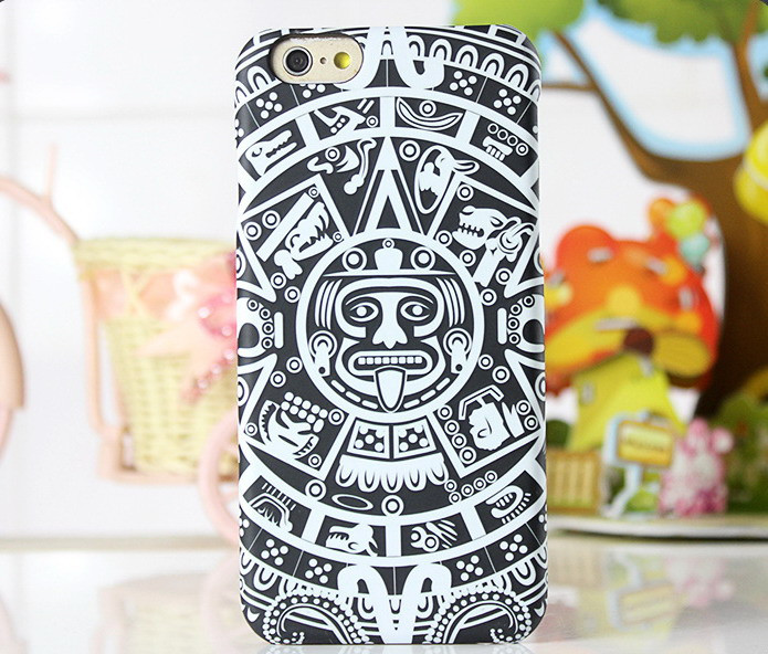 Ethnic Style Mandala Flower Case for iPhone 6 s Phone Cases for iPhone 6 Plus Embossed Matte Surface Luminous Effect