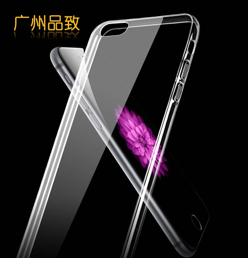 0.3mm Super Flexible Crystal Clear Case For iphone 6 4.7 Inch Cover Crystal Simple Back Pure Soft TPU Style(China (Mainland))