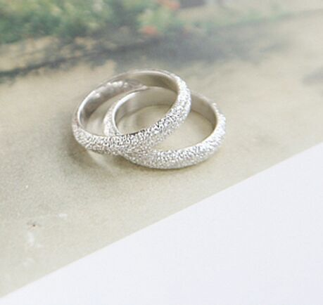 Wholesale Romantic Summer Style Scrub Silver Plated Rings For Woman Fine Jewelry Simple Fashion Engagement Anillos Bijoux 2015(China (Mainland))