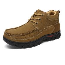 CAMEL Lederen Mannelijke Mannen Schoenen Winter Toevallige Hoge-top Scrub Koeienhuid Tooling Mannen Outdoor Recreatie Schoenen voor mannen(China)