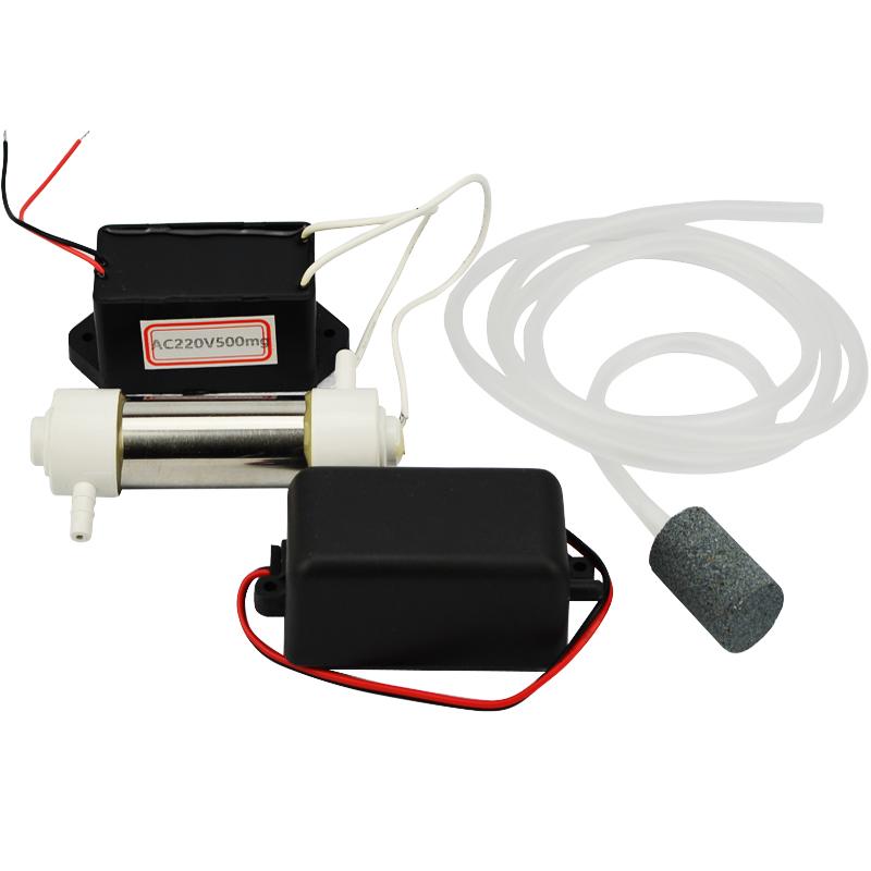 1Set Ozone Generator 220v,110v 500mg/h Water Air Sterilizer Ozone Water Air Cleaner Ozone Generator+Pipe+Air Pump+Air Stone(China (Mainland))