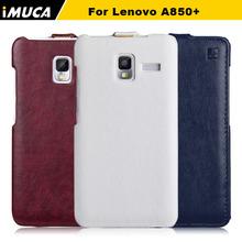 10pcs/lot Lenovo a850 plus case 100% original luxury vertical leather for lenovo a850 plus flip cover mobile phone bags&cases