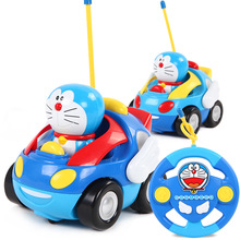 Buy New safe toys RC car Doraemon toy Action figure musical light Car toy model Anime cartoon toys doll Cat figure for $19.33 in AliExpress store