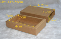 14*7*3CM,40pcs/lot,Cosmetic kraft drawer paper box Brown kraft handmade gift boxes,Essential oil box,custom box logo