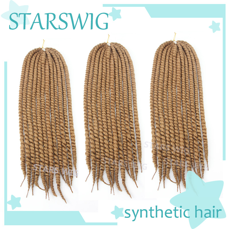 22 120g/pack12strands crochet synthetic curly braiding hair kanekalon ...