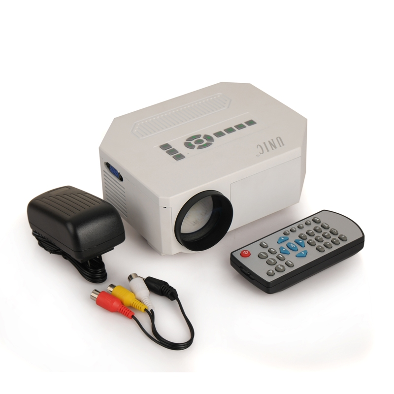 Mini 1080p uc30 projector led projector hdmi home theater for Small hdmi projector