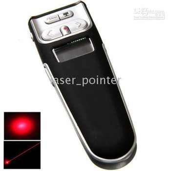 Laser Pointer Pen 650nm 1mW With Wireless Control Page Up & Down 4pcs/lot